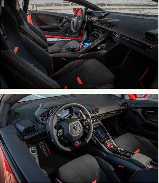 2020 Lamborghini Huracan Evo inside